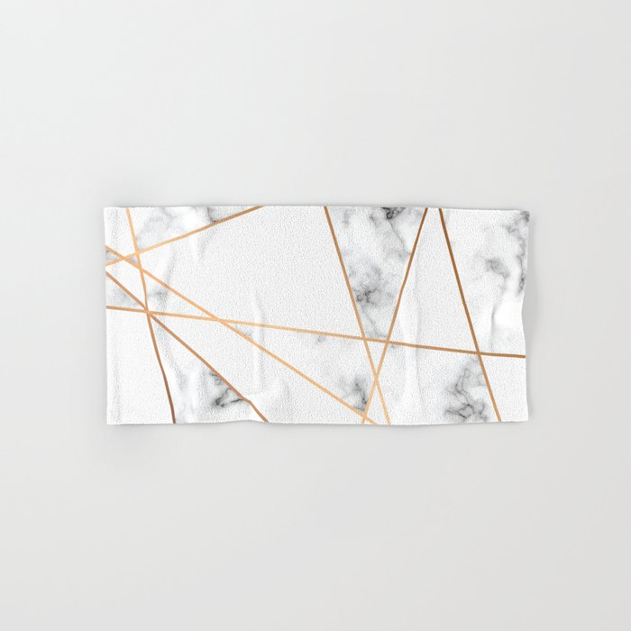 Marble Geometry 054 Hand & Bath Towel