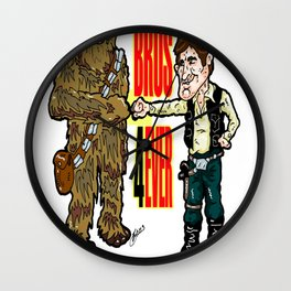 A Long Time Ago, but FOREVER!  Han Solo and Chewbacca: Best Bros in the Star Wars Universe!  Wall Clock