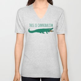 This Is Cannibalism Gift Funny Animal T-Shirt Unisex V-Neck