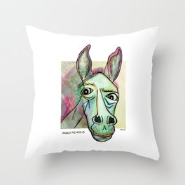 Pablo Pic-Ass-O Throw Pillow