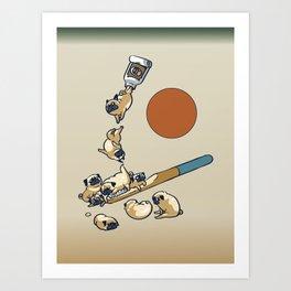 Good Morning Pugs Art Print