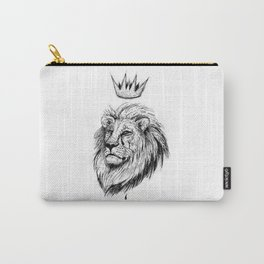 Cecil the Lion Black and White Carry-All Pouch