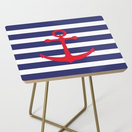 AFE Nautical Red Ship Anchor Side Table
