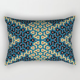 Squiggle Trails Most Awesome Yellow Red Blue and Black Rectangular Pillow