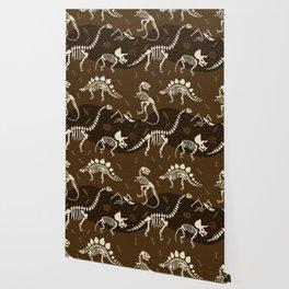 Fossil Dinosaur Pattern Wallpaper
