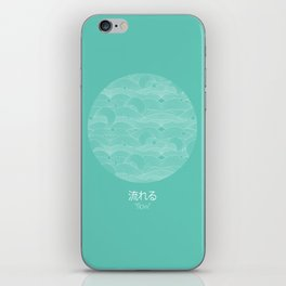 flow - cyan iPhone Skin