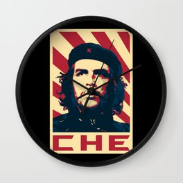 Che Guevara Retro Propaganda Wall Clock