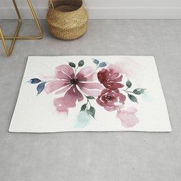 Modern Watercolor Florals No. 3 Rug
