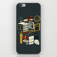 221b iPhone & iPod Skins featuring 221B by Nina Martinez