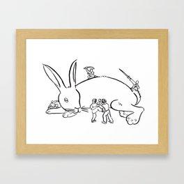 Kuo Shu Rabbit Framed Art Print