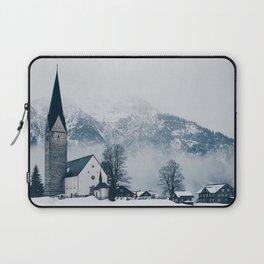 Christmas Winter Church (Color) Laptop Sleeve