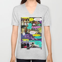 """""""Code Name: King #2"""" Comic Book Page Art  Unisex V-Neck"""