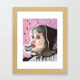 Grunge Melanie Framed Art Print