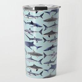 8 SHARKS (light blue) Travel Mug