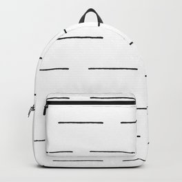 Block Print Lines in Black and White Backpack