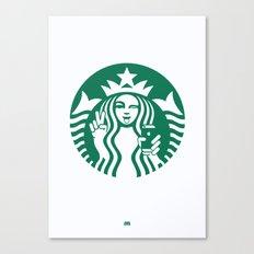 Selfie - 'Starbucks ICONS' Canvas Print