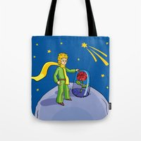 the little prince Tote Bags featuring Little prince by Dennis Morgan
