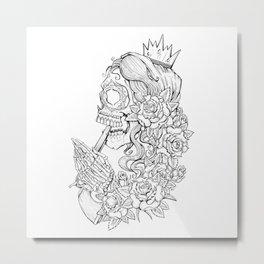 Suicide Sin Lineart Metal Print