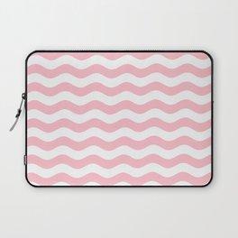 Wavy Stripes (Pink/White) Laptop Sleeve
