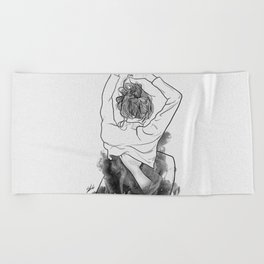 I want to know you little more deep. Beach Towel