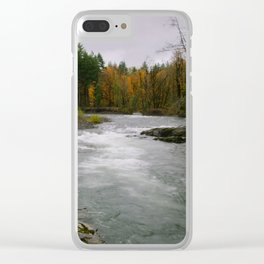 The Wilson River In The Tillamook National Forest Clear iPhone Case