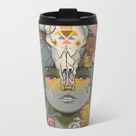 Desert Rose Metal Travel Mug
