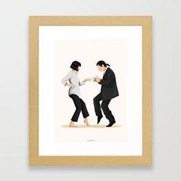 Pulp Fiction Twist Dance Gerahmter Kunstdruck
