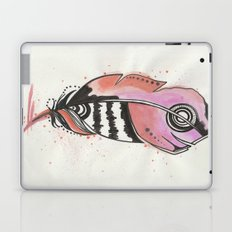 Pink and Orange Feather Laptop & iPad Skin