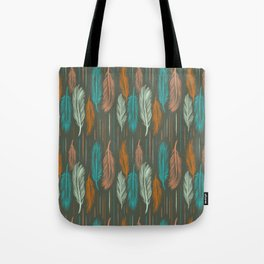 Feather Pattern Tote Bag
