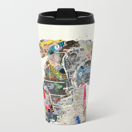 the mod boxer Metal Travel Mug