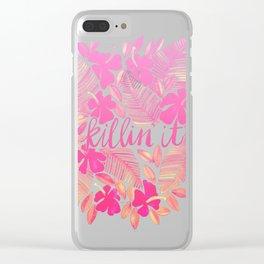Killin' It – Pink Ombré Clear iPhone Case
