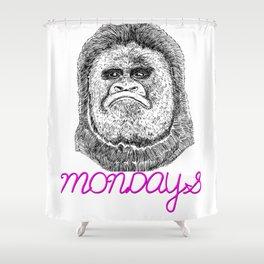 Monday Grumps Shower Curtain