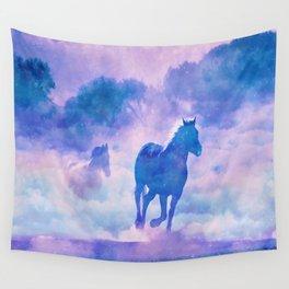 Horses run Wall Tapestry