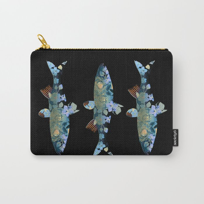 Flowery fish Carry-All Pouch