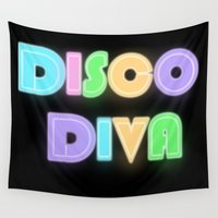 disco Wall Tapestries featuring Disco Diva by VirgoSpice
