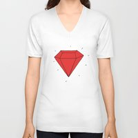 ruby V-neck T-shirts featuring Ruby  by Normandie Illustration