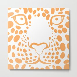 LEOPARD--FACE Metal Print