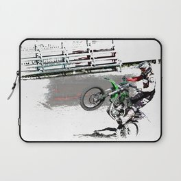 Making a Stand - Freestyle Motocross Rider Laptop Sleeve