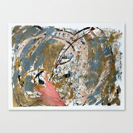 Symphony [2]: colorful abstract piece in gray, brown, pink, black and white Canvas Print