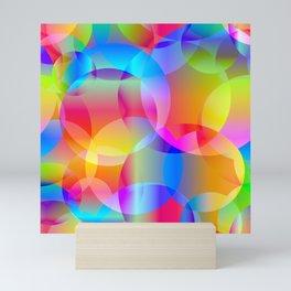 Soap bubbles for air mood. Mini Art Print