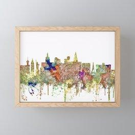 Las Vegas, Nevada Skyline - Faded Glory Framed Mini Art Print