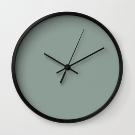 Inducing Serenity Greyish Blue Green Solid Color Pairs To Sherwin Williams Jasper Stone SW 9133 Wall Clock