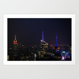 NYC Iconic Night Sky Art Print