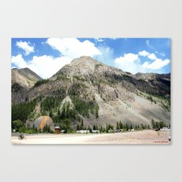 Looking East from the Sunnyside Mill at Eureka Canvas Print