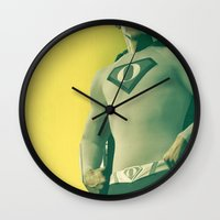 obama Wall Clocks featuring super obama by fotografismi.com