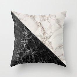 Black and white marble decor Throw Pillow