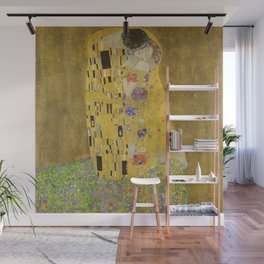The Kiss by Gustav Klimt Wall Mural
