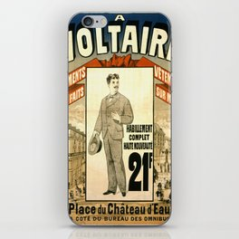 Vintage poster - A Voltaire iPhone Skin