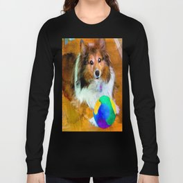 Sheltie with Ball Long Sleeve T-shirt