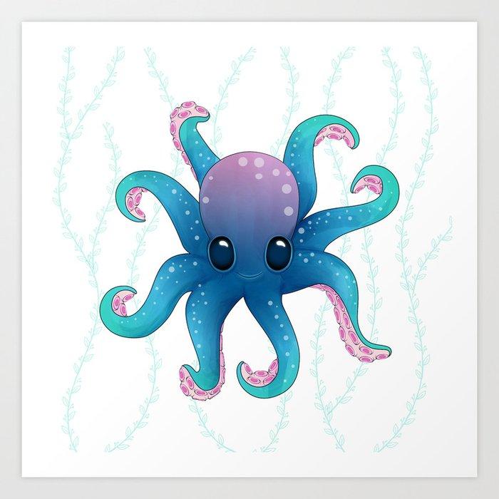 Octopus friend Kunstdrucke